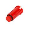 Тестовая заглушка 1/2 наружная, цвет красный ABA SYSTEM 1103740007