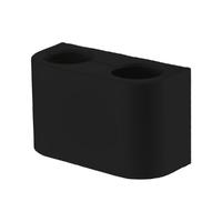 Декоративная крышка для мультифлекса, цвет черный ABA SYSTEM 1103740009